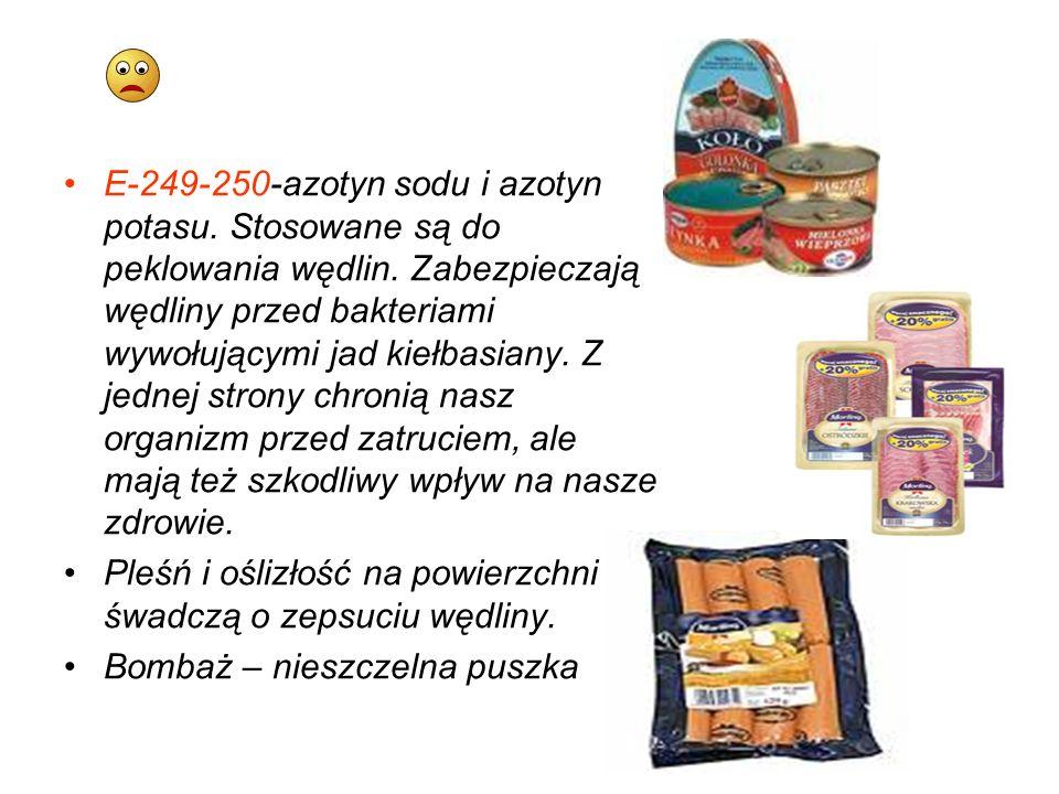 E-249-250-azotyn sodu i azotyn potasu