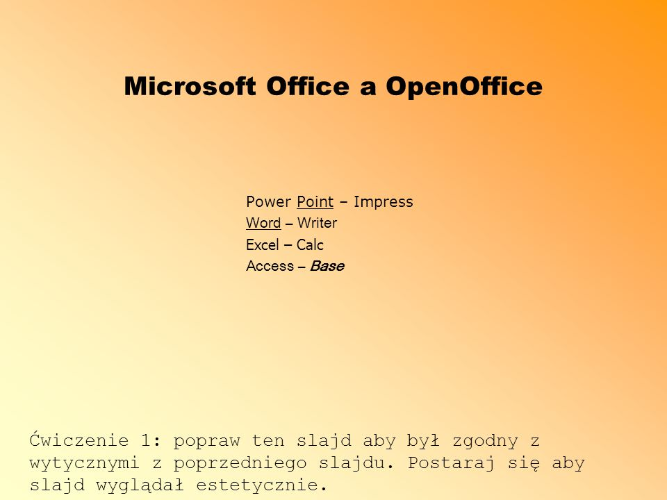 Microsoft Office a OpenOffice