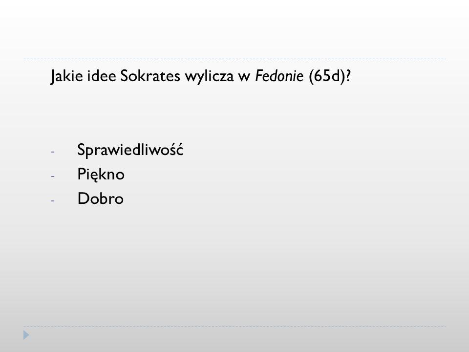 Jakie idee Sokrates wylicza w Fedonie (65d)