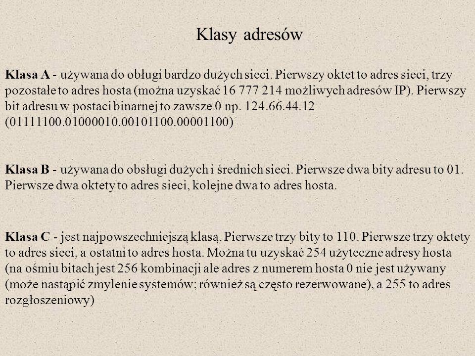 Klasy adresów