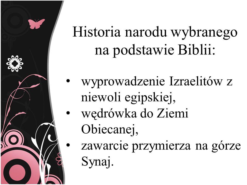 Historia narodu wybranego na podstawie Biblii: