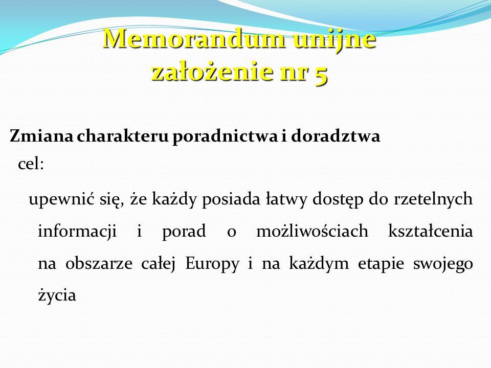 Memorandum unijne założenie nr 5