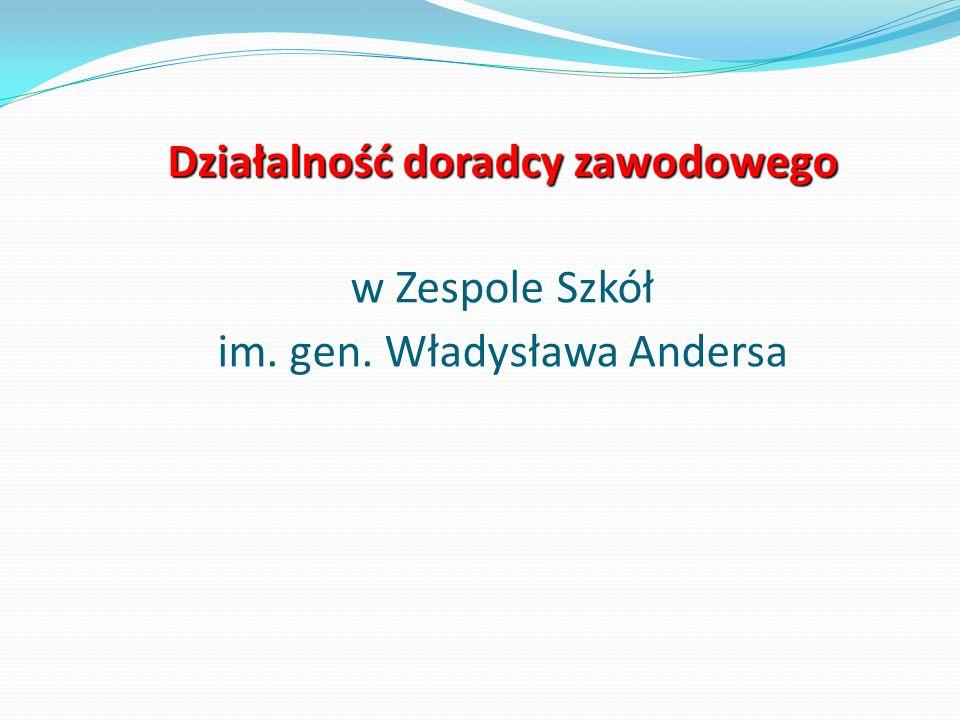 Działalność doradcy zawodowego w Zespole Szkół im. gen