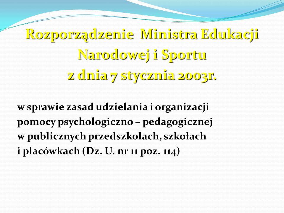 Rozporządzenie Ministra Edukacji