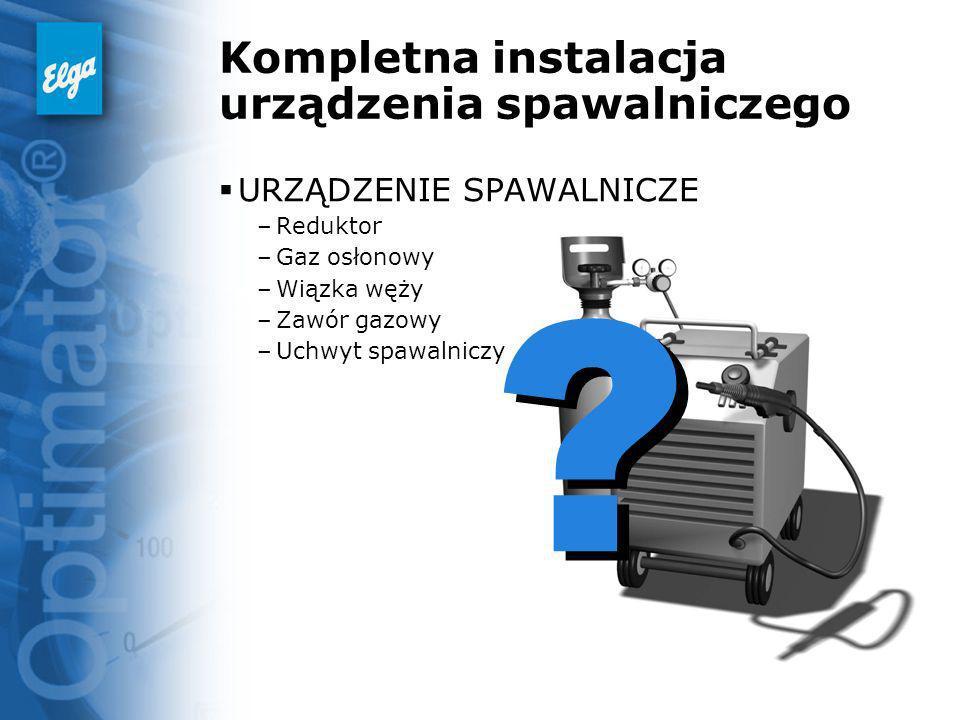 Kompletna instalacja urządzenia spawalniczego