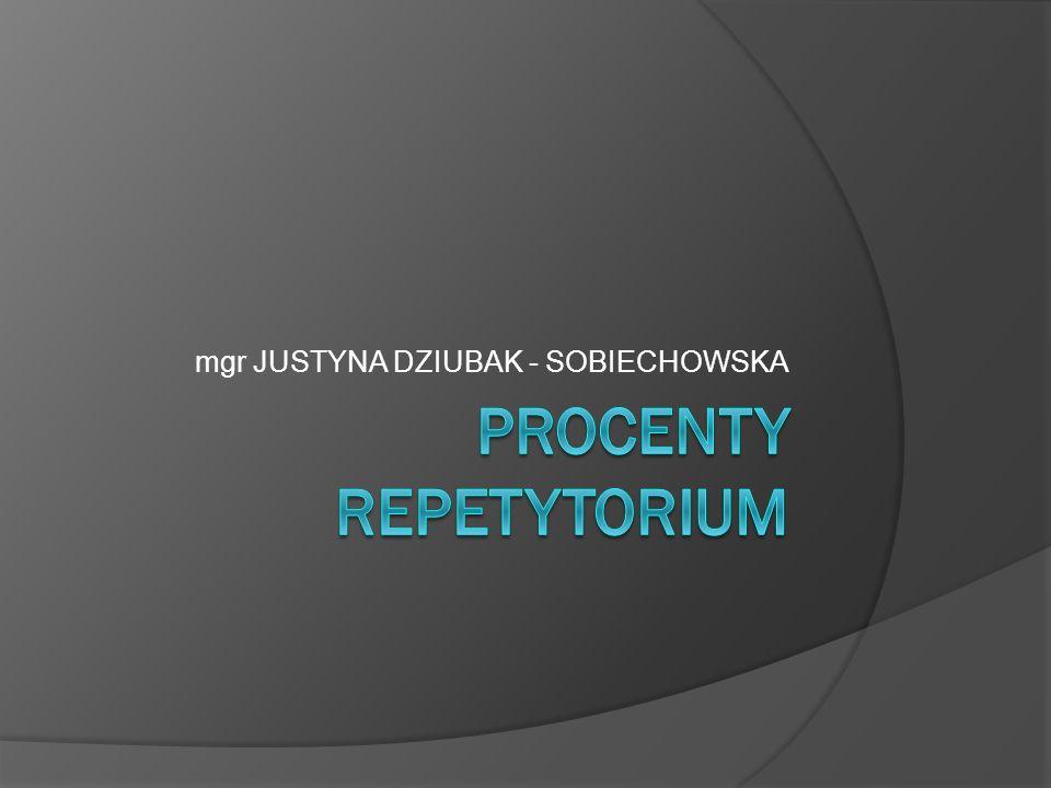 Procenty repetytorium