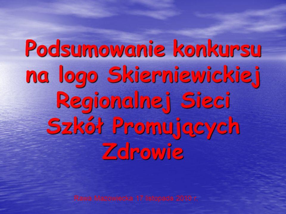 Podsumowanie konkursu na logo Skierniewickiej Regionalnej Sieci Szkół Promujących Zdrowie