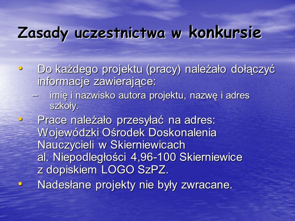 Zasady uczestnictwa w konkursie