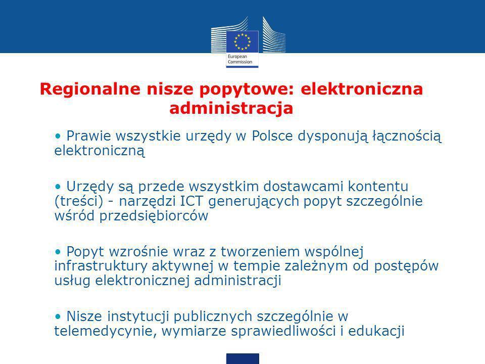 Regionalne nisze popytowe: elektroniczna administracja