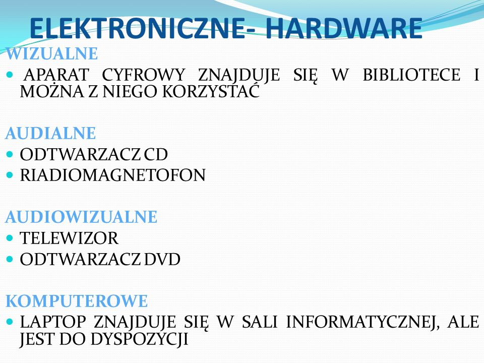 ELEKTRONICZNE- HARDWARE