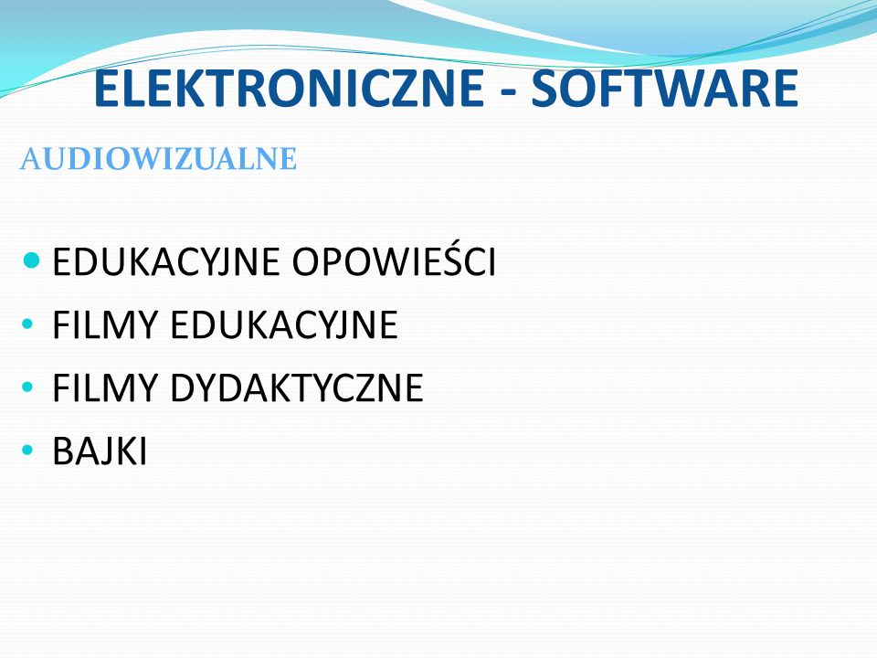 ELEKTRONICZNE - SOFTWARE