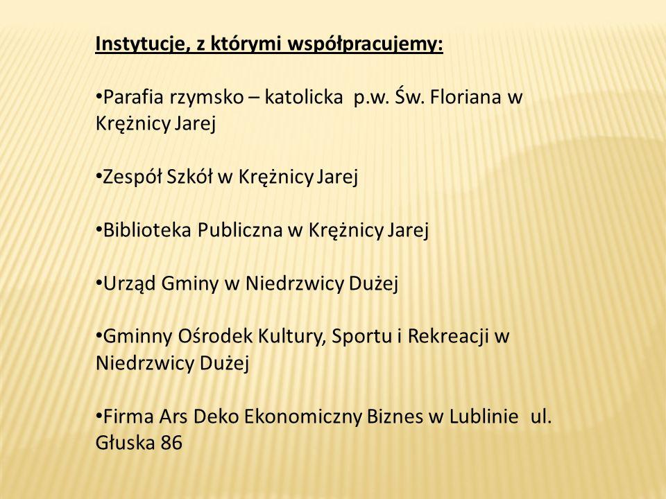 Instytucje, z którymi współpracujemy: