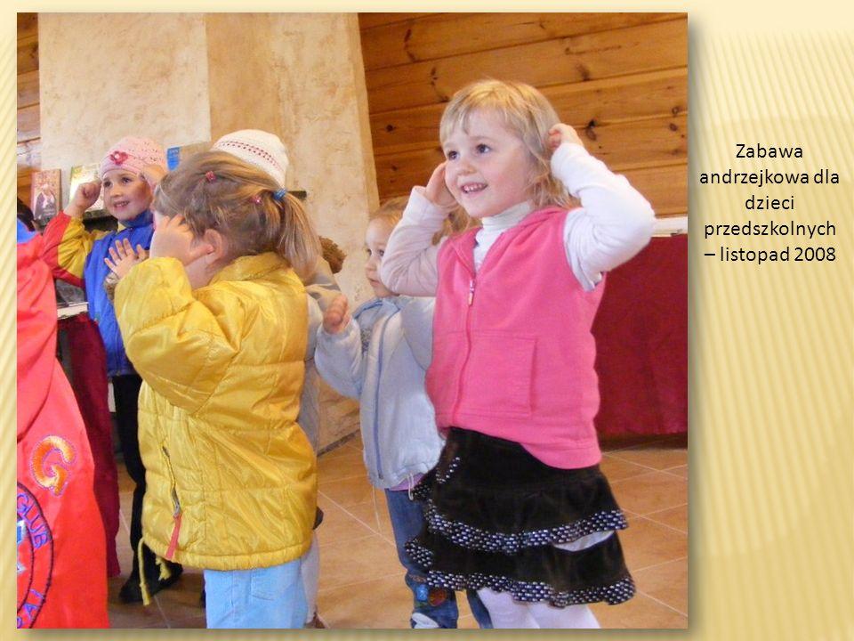 Zabawa andrzejkowa dla dzieci przedszkolnych – listopad 2008