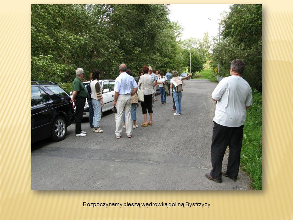 Rozpoczynamy pieszą wędrówką doliną Bystrzycy