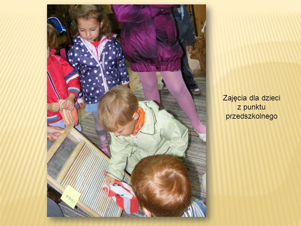 Zajęcia dla dzieci z punktu przedszkolnego