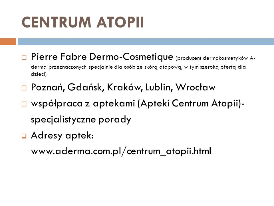 CENTRUM ATOPII
