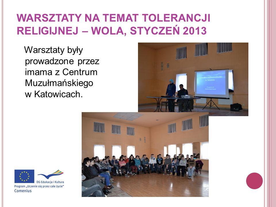 WARSZTATY NA TEMAT TOLERANCJI RELIGIJNEJ – WOLA, STYCZEŃ 2013