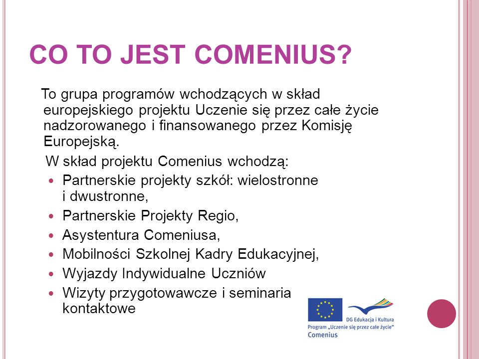 CO TO JEST COMENIUS