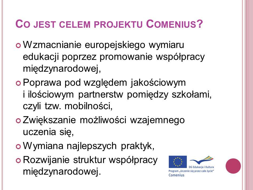 Co jest celem projektu Comenius
