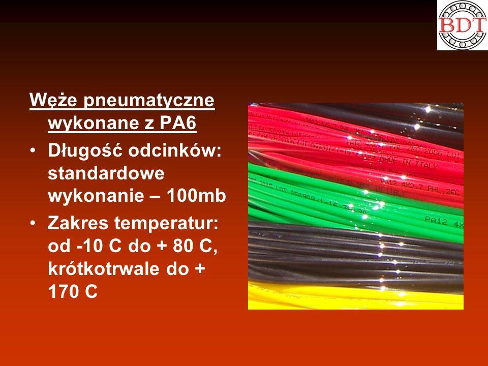 Węże pneumatyczne wykonane z PA6