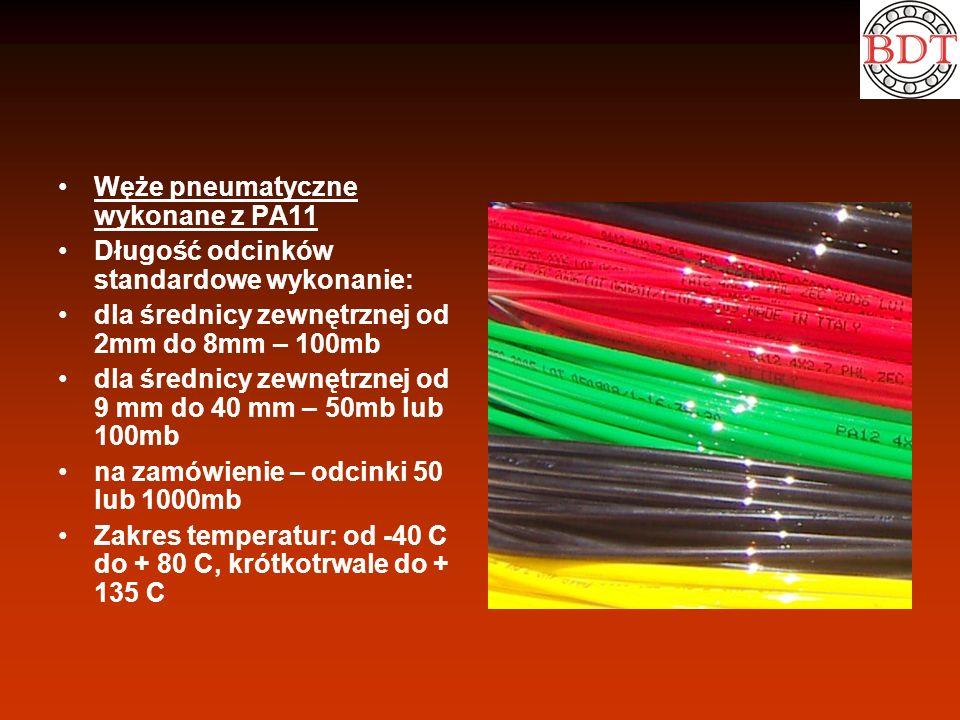 Węże pneumatyczne wykonane z PA11