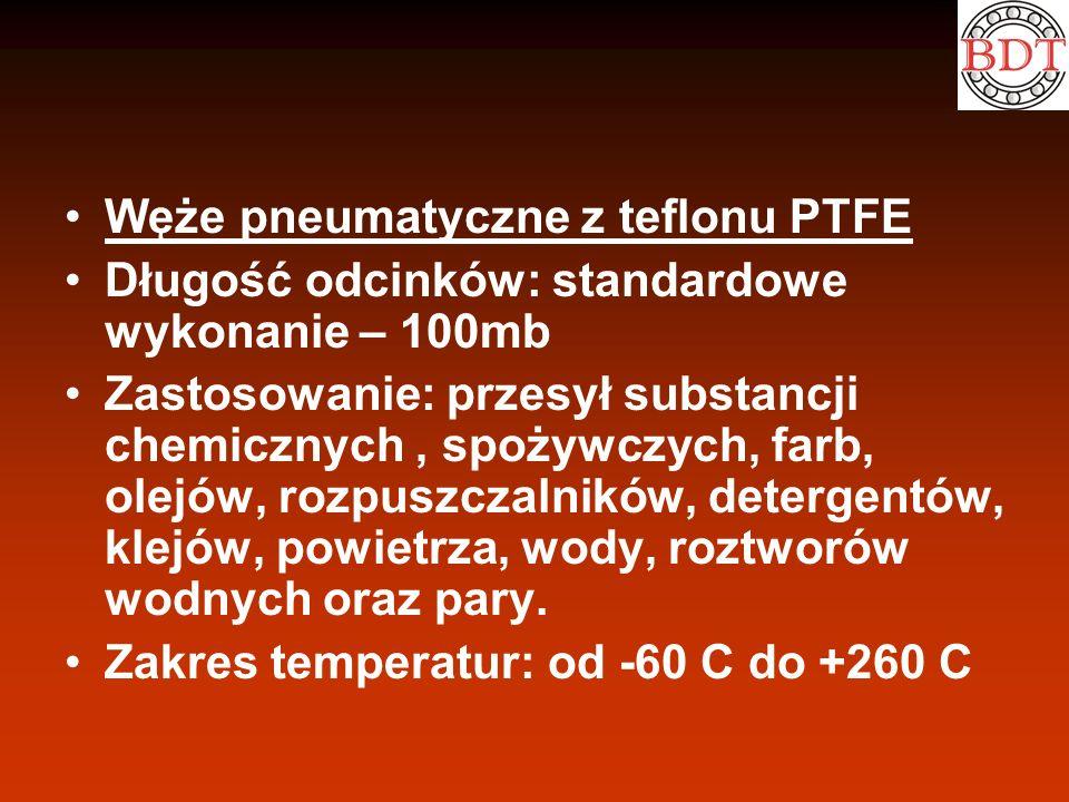 Węże pneumatyczne z teflonu PTFE