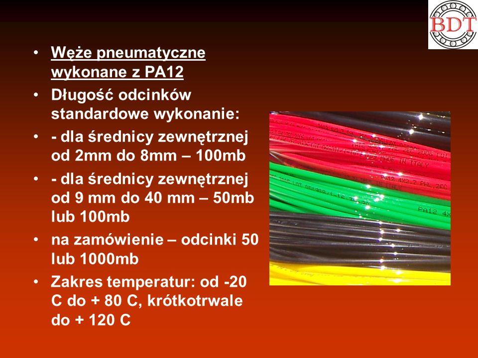 Węże pneumatyczne wykonane z PA12