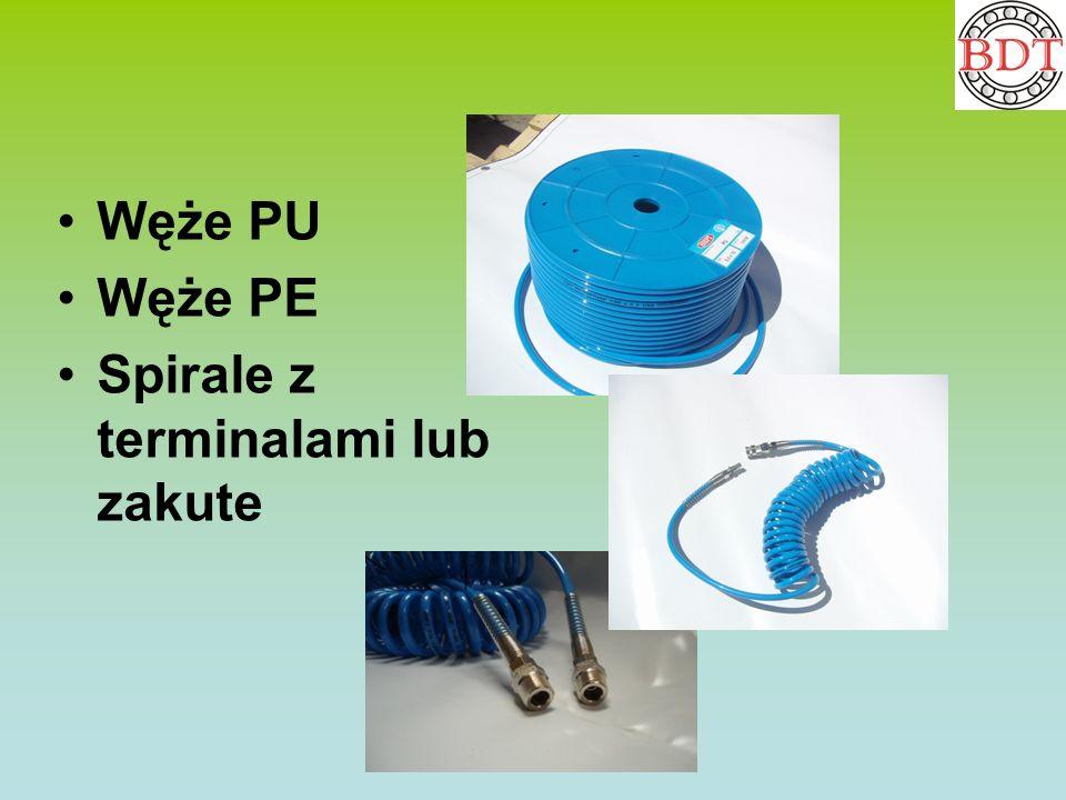 Węże PU Węże PE Spirale z terminalami lub zakute