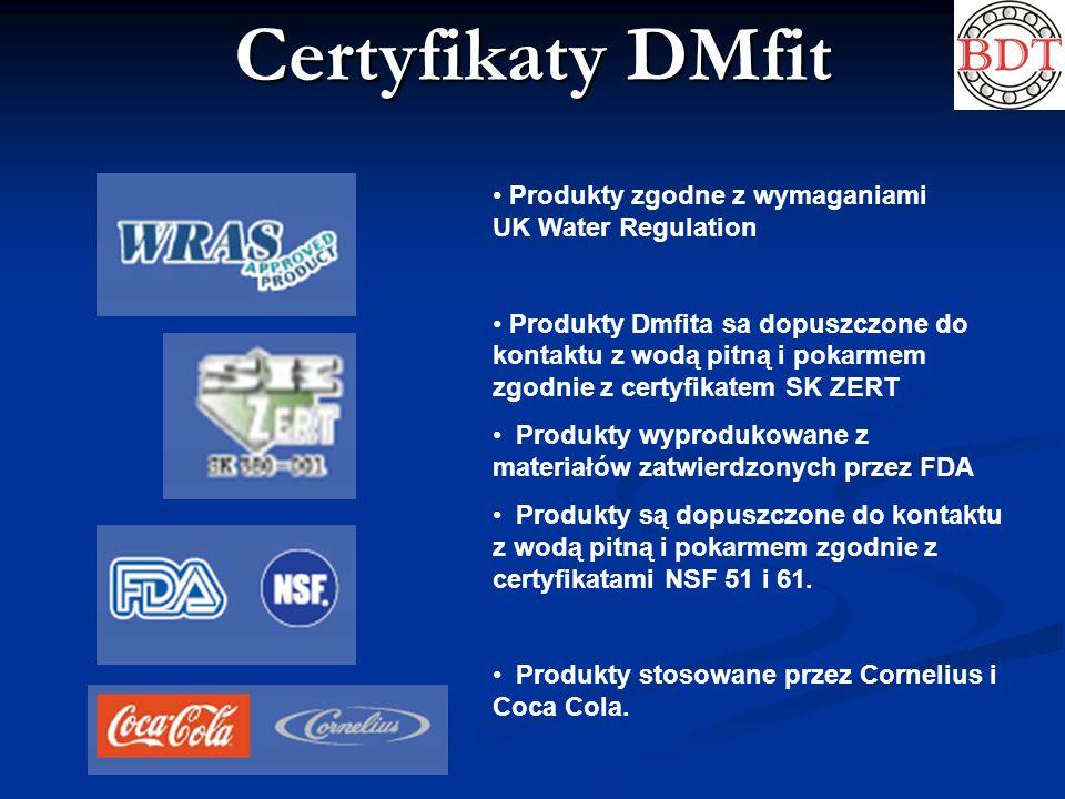 Certyfikaty DMfit Produkty zgodne z wymaganiami UK Water Regulation