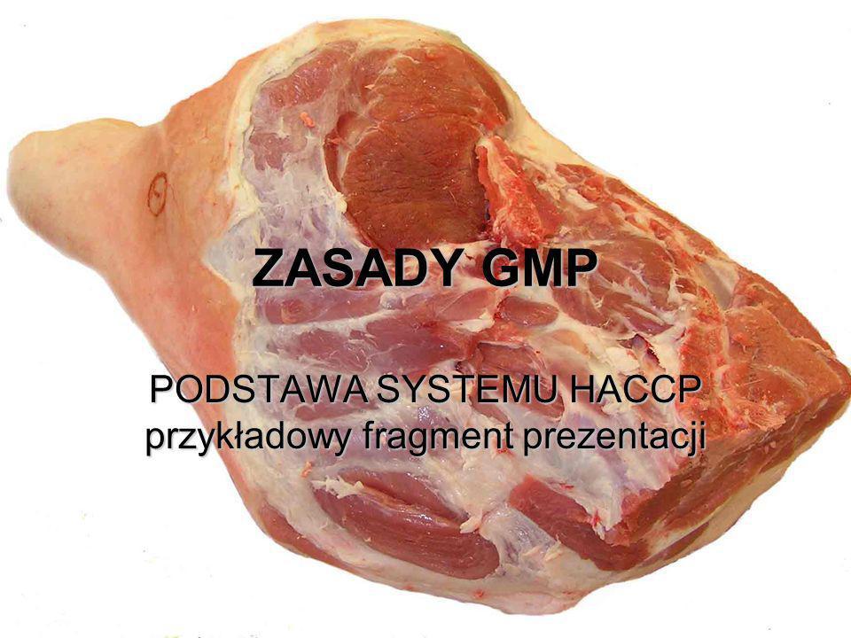 PODSTAWA SYSTEMU HACCP przykładowy fragment prezentacji