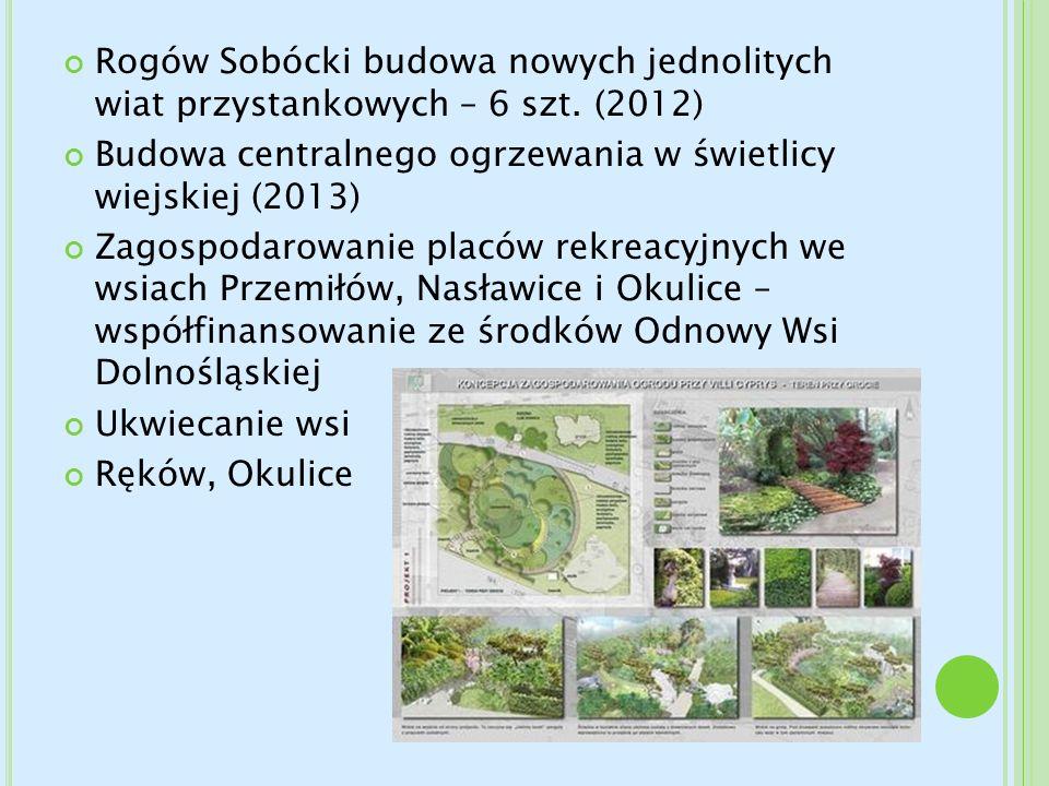 Rogów Sobócki budowa nowych jednolitych wiat przystankowych – 6 szt