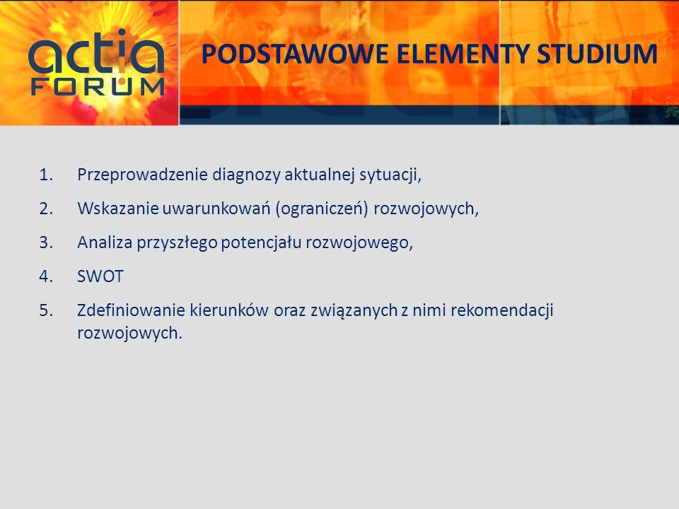 PODSTAWOWE ELEMENTY STUDIUM