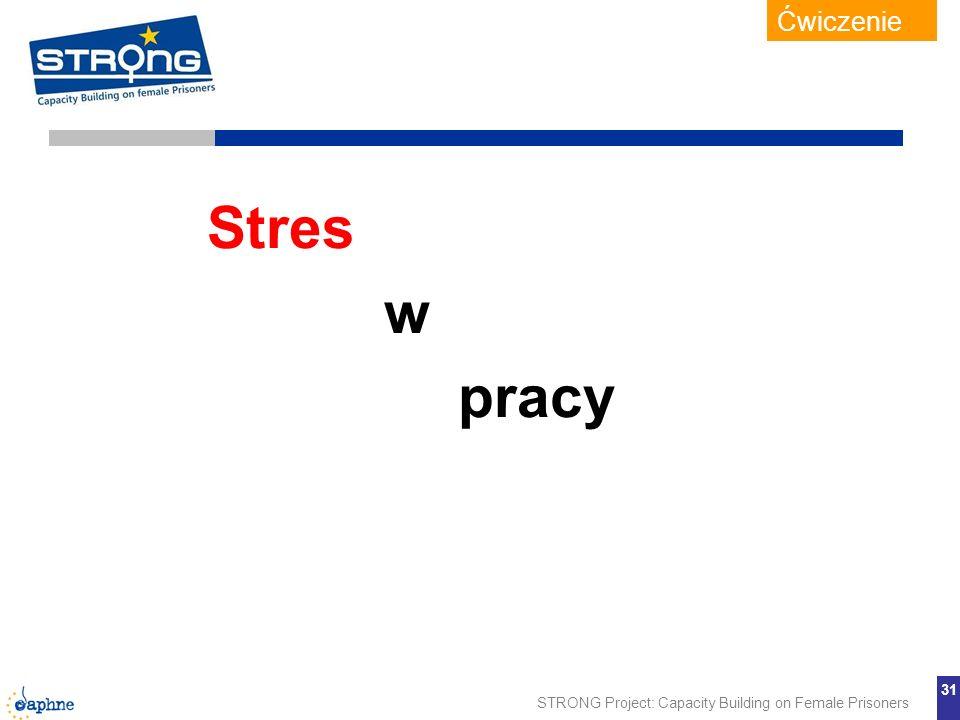 Ćwiczenie Stres w pracy Zob. arkusz ćwiczeń