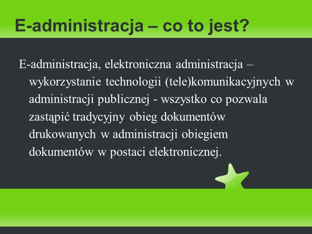E-administracja – co to jest