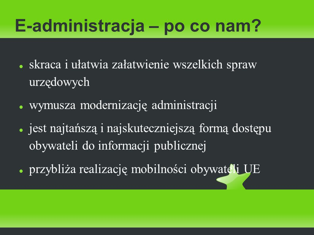 E-administracja – po co nam