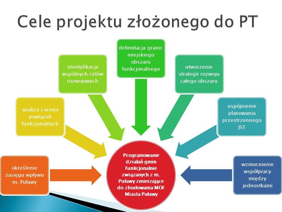 Cele projektu złożonego do PT