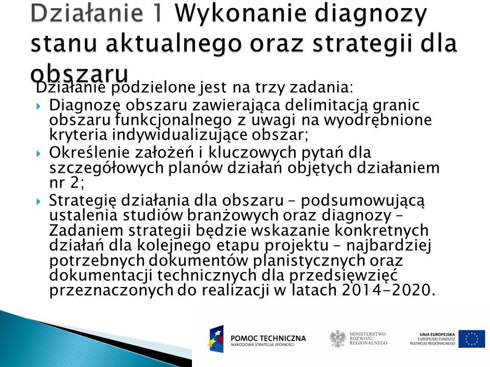 Działanie 1 Wykonanie diagnozy stanu aktualnego oraz strategii dla obszaru