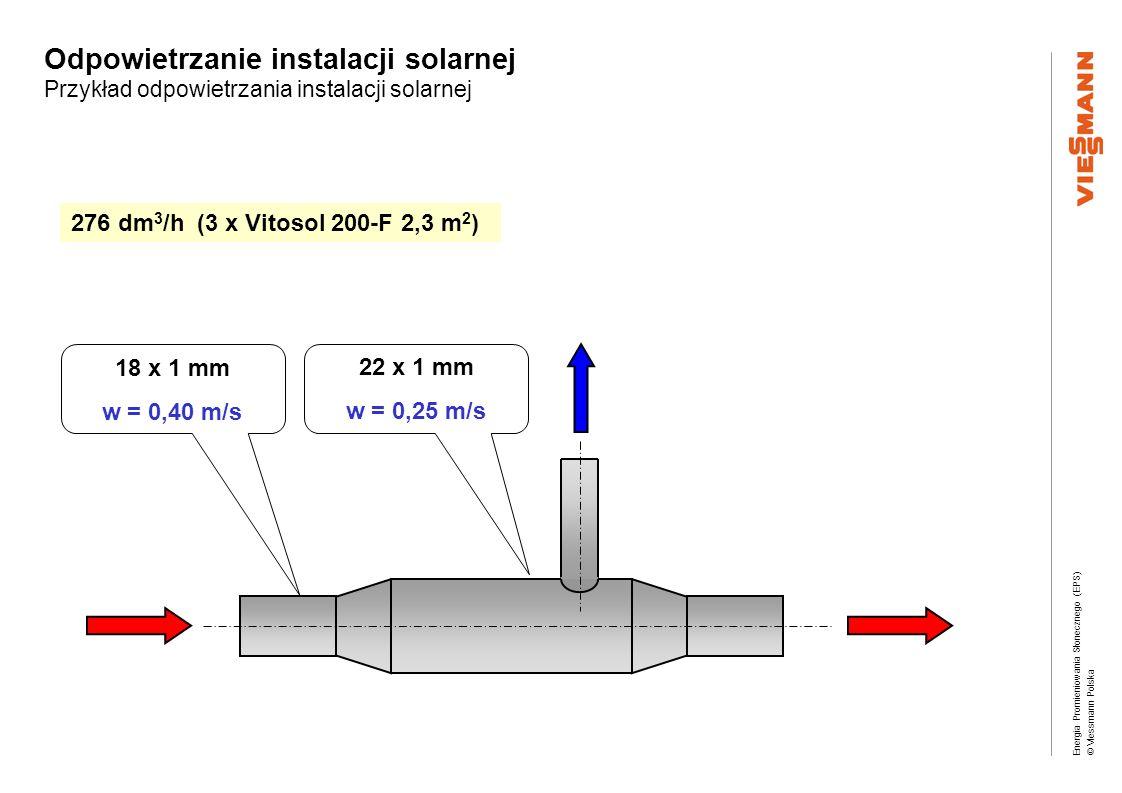 Odpowietrzanie instalacji solarnej Przykład odpowietrzania instalacji solarnej