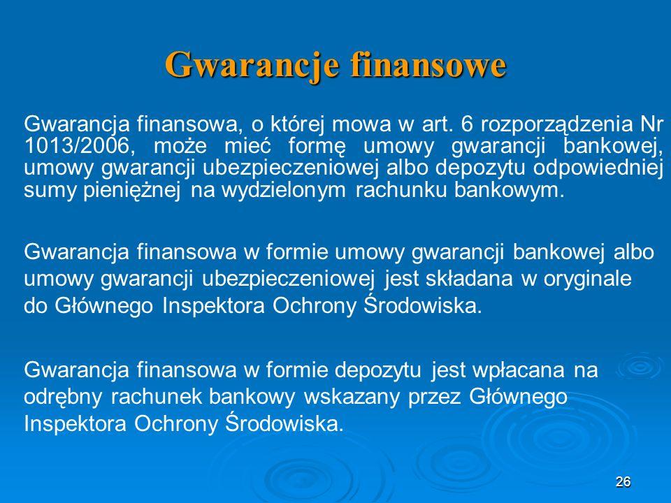 Gwarancje finansowe