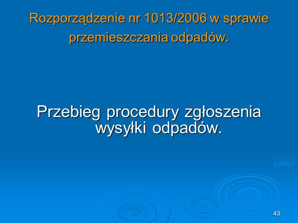 Rozporządzenie nr 1013/2006 w sprawie przemieszczania odpadów.