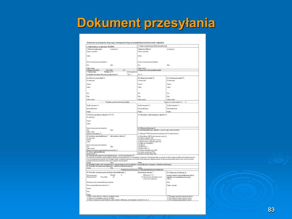 Dokument przesyłania