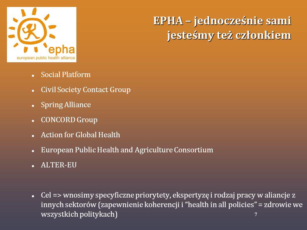 EPHA – jednocześnie sami jesteśmy też członkiem