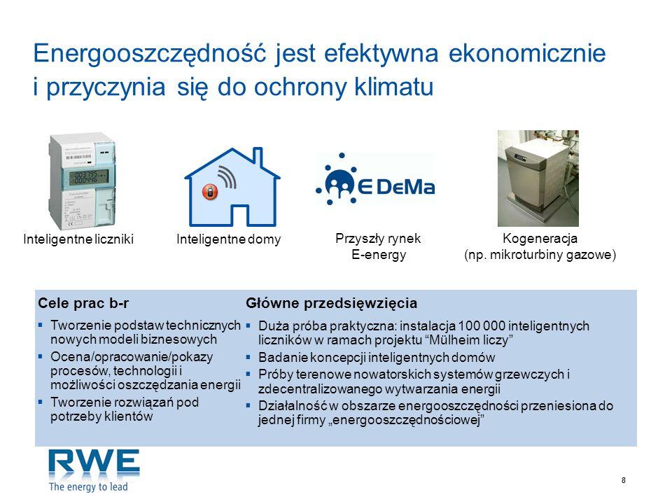 Energooszczędność jest efektywna ekonomicznie i przyczynia się do ochrony klimatu