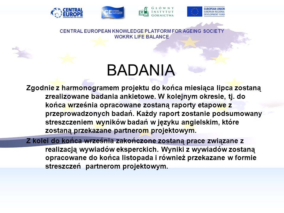 CENTRAL EUROPEAN KNOWLEDGE PLATFORM FOR AGEING SOCIETY
