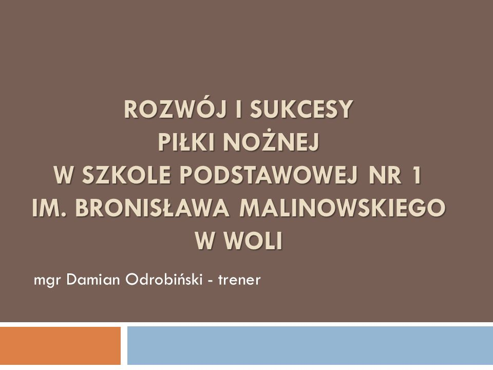 mgr Damian Odrobiński - trener