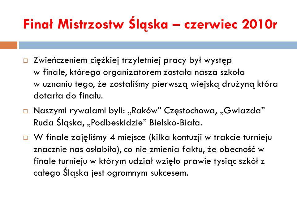 Finał Mistrzostw Śląska – czerwiec 2010r