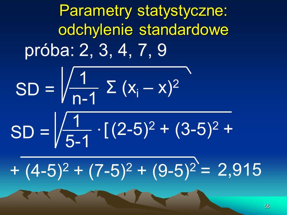 Parametry statystyczne: odchylenie standardowe