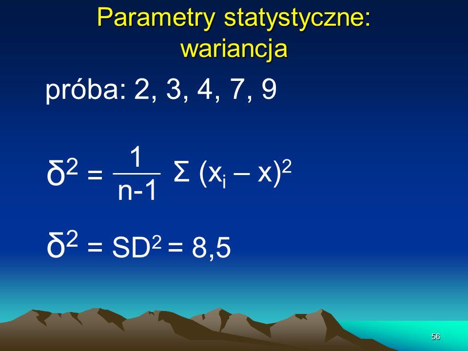 Parametry statystyczne: wariancja