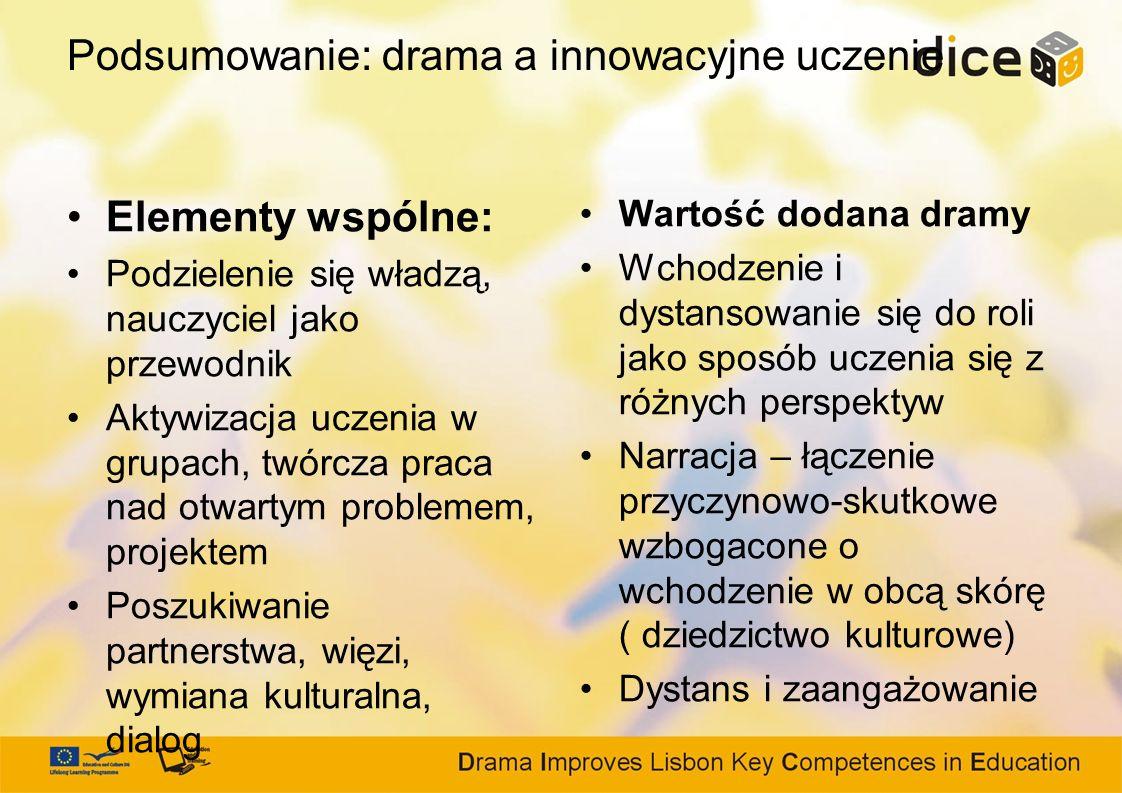 Podsumowanie: drama a innowacyjne uczenie