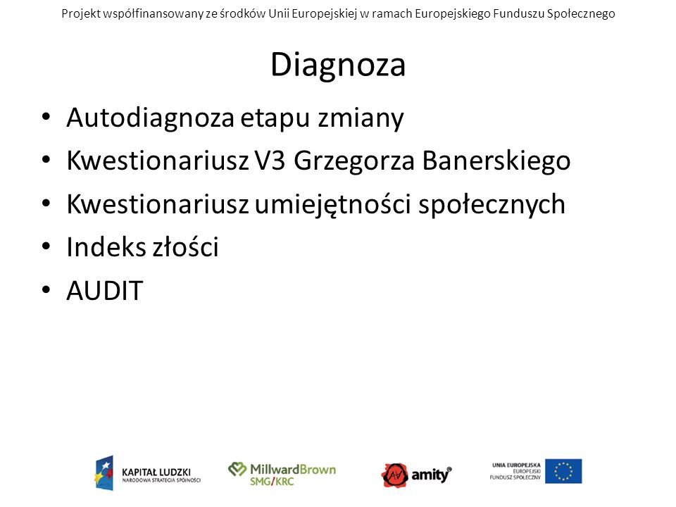 Diagnoza Autodiagnoza etapu zmiany